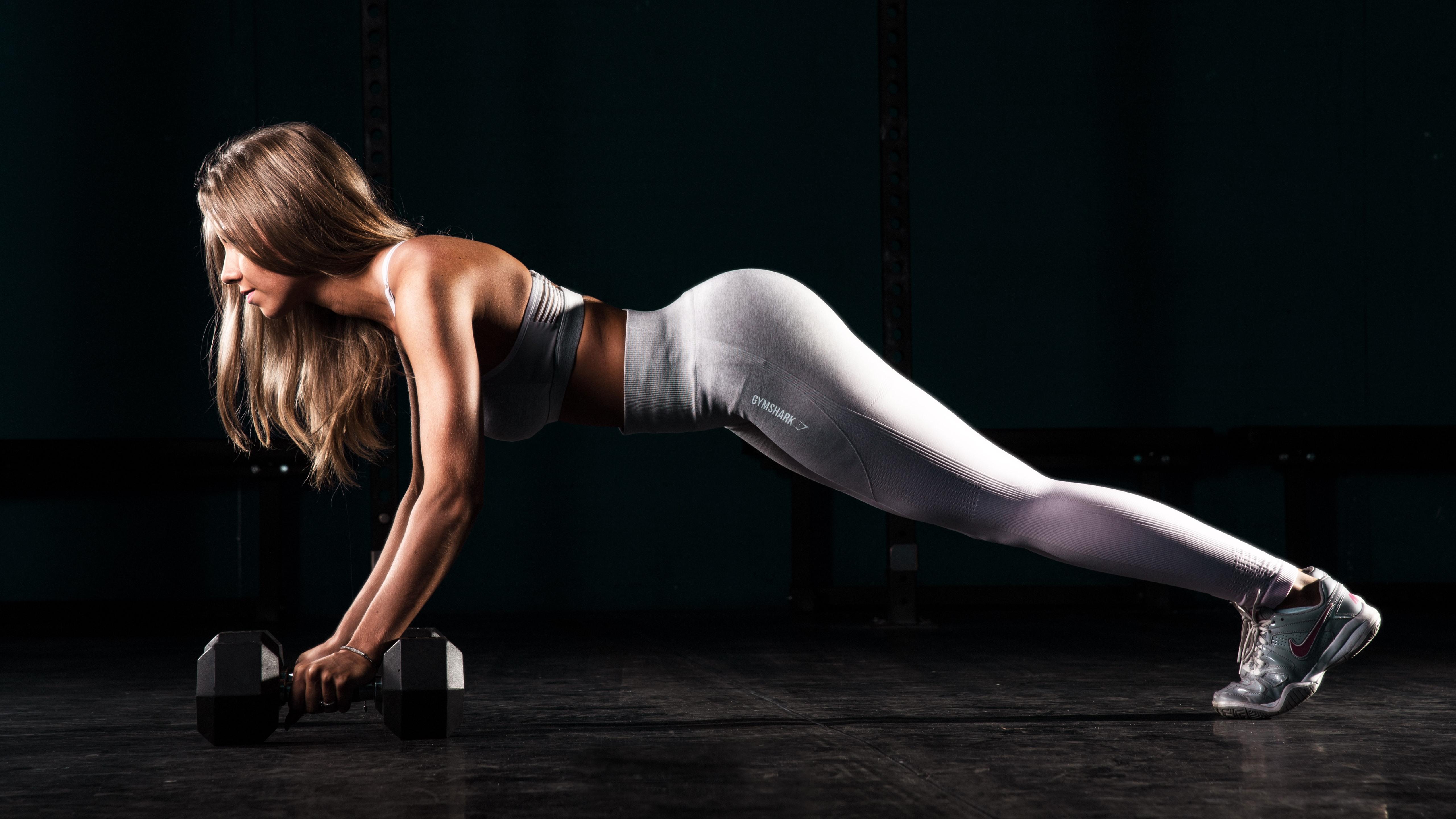 Wallpaper Fitness Girl Pose Gym Yoga 5120x2880 Uhd 5k