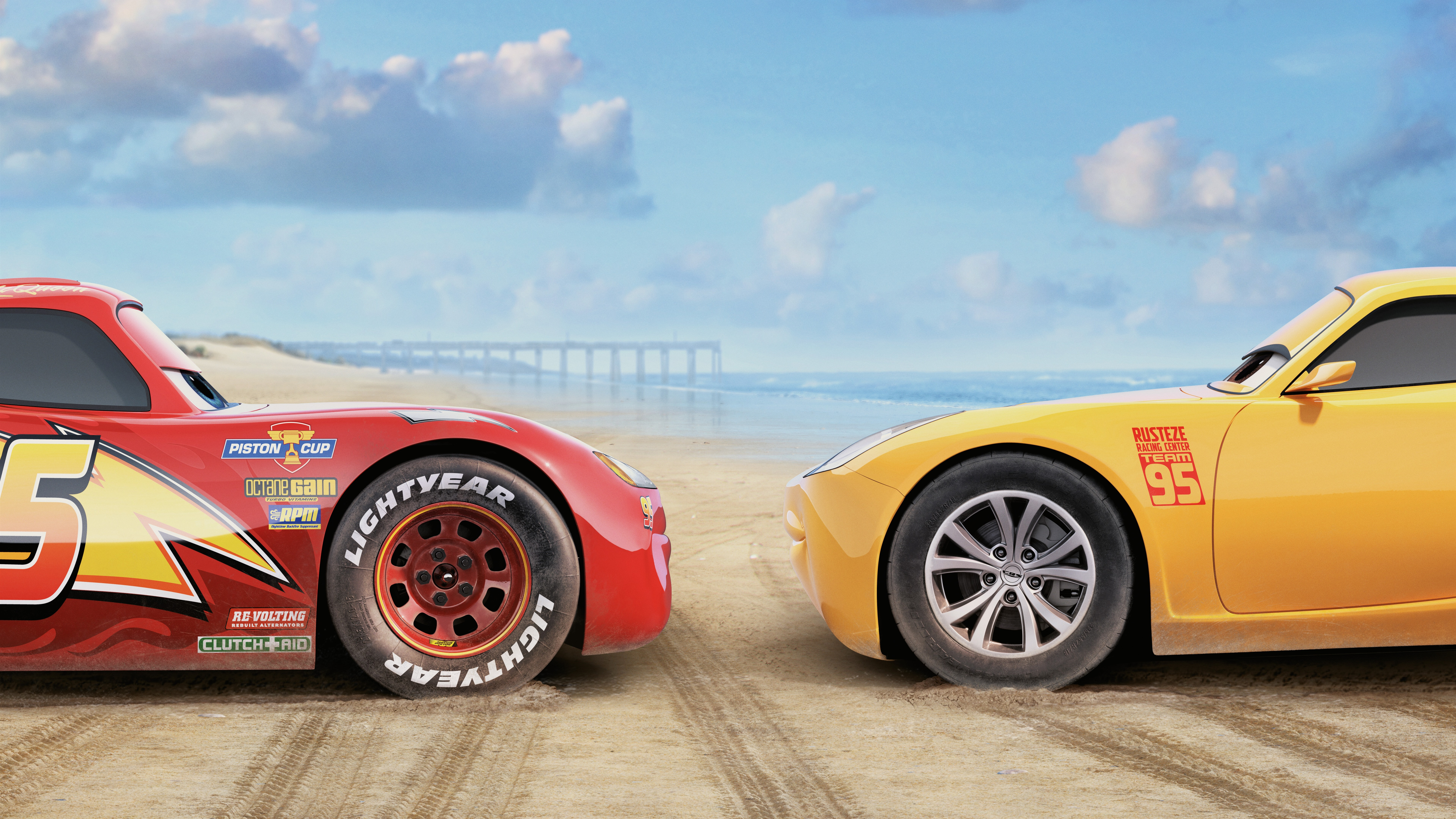Wallpaper Cars 3 Red And Yellow Car 7680x4320 Uhd 8k Picture Image