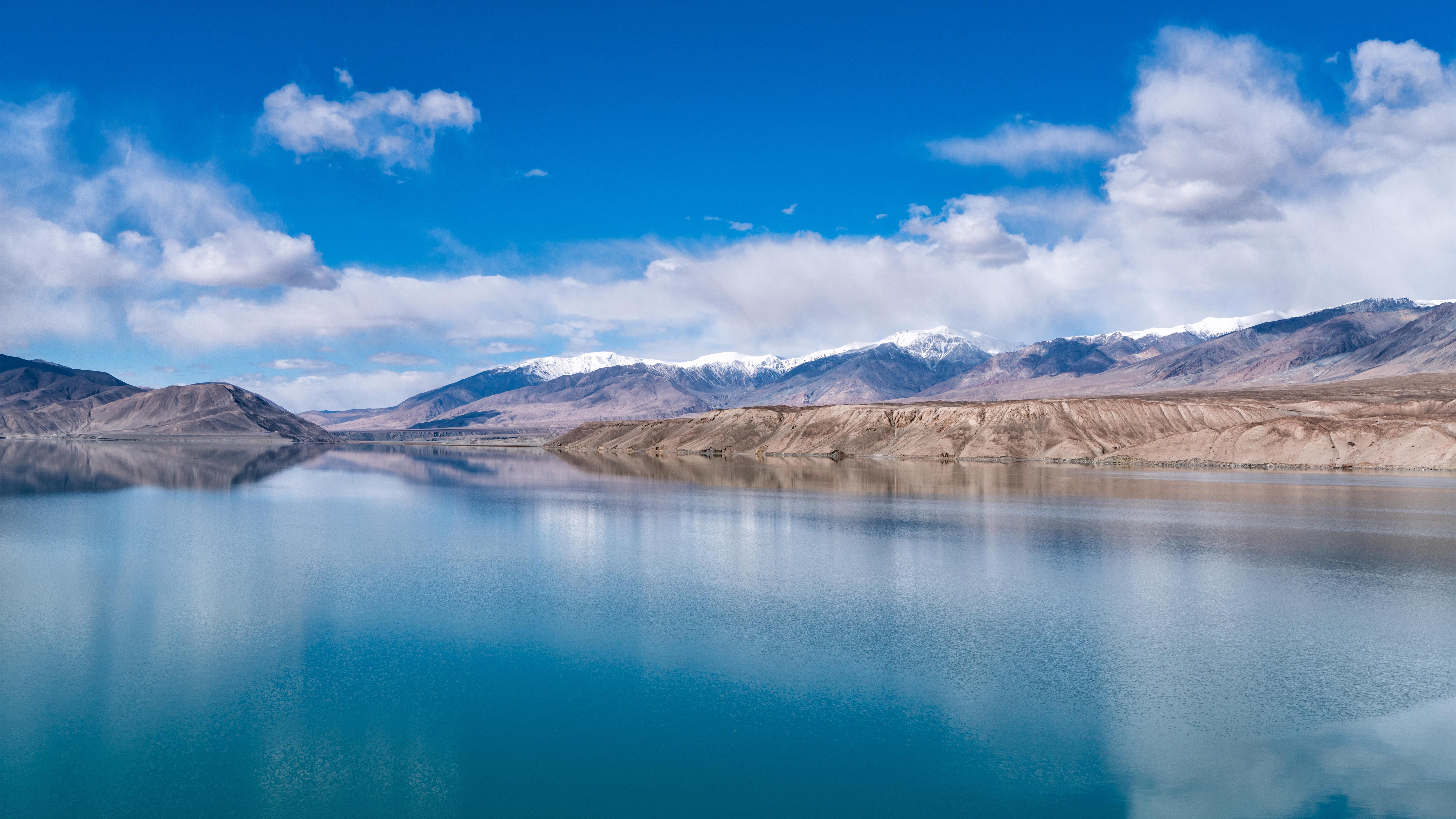 Wallpaper Beautiful Baisha Lake In Xinjiang Clear Water