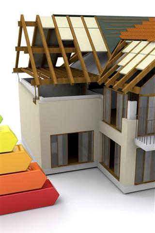 iPhone Wallpaper 3D house design