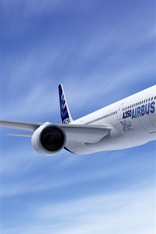 iPhone 배경 화면 에어 버스 A350 항공기