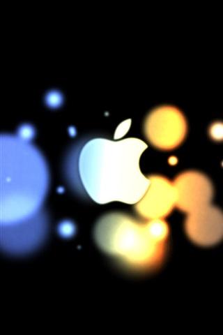 iPhone 배경 화면 애플 블루 오렌지 서클