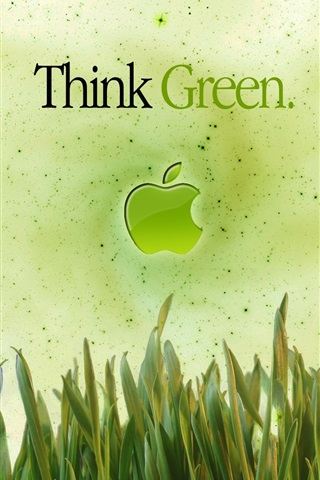 iPhone Wallpaper Apple Think Green