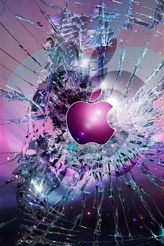 iPhone Papéis de Parede Apple fundo da tela quebrada