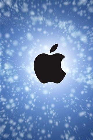 iPhone 배경 화면 애플 푸른 하늘에