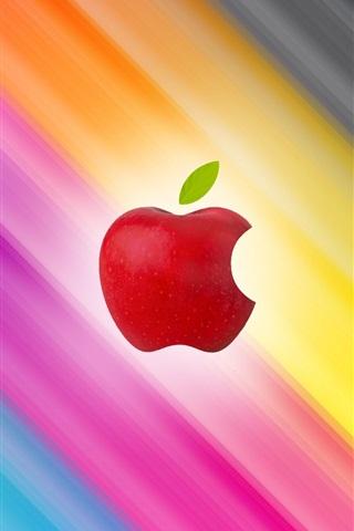 iPhone 배경 화면 애플 슬래시 다채로운 배경