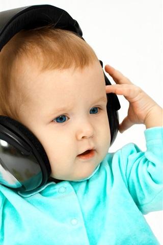iPhone Papéis de Parede Baby ouvir música