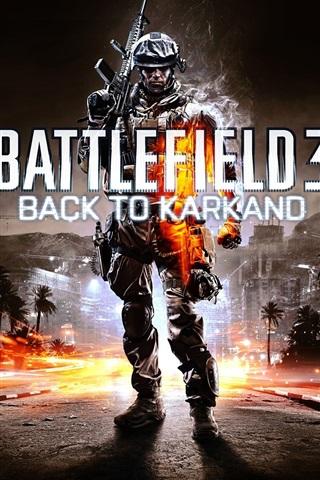 iPhone Papéis de Parede Battlefield 3: Back to Karkand