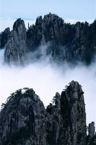 iPhone Papéis de Parede Beleza das montanhas como um país das fadas