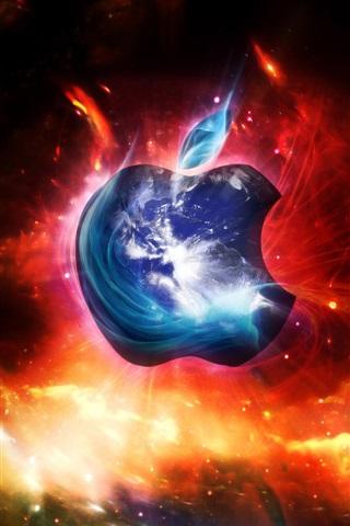 iPhone Papéis de Parede Blue Red Apple galáxias