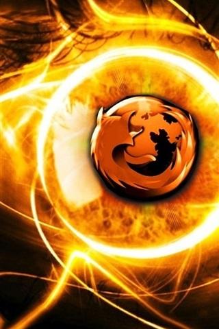 iPhone Papéis de Parede Burning Firefox