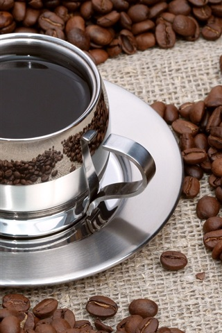 iPhone 배경 화면 커피, 커피 콩
