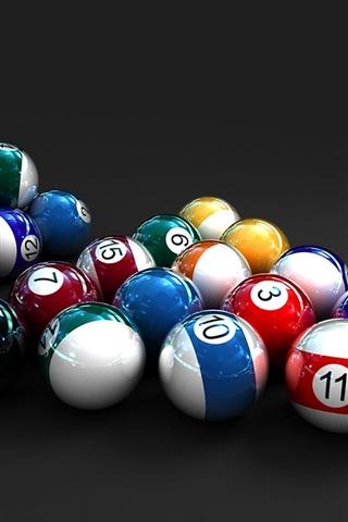 iPhone Wallpaper Colorful 3D Billiards