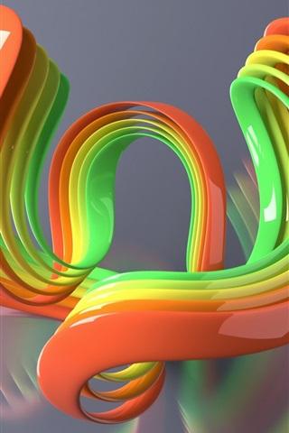 iPhone Papéis de Parede Colorido curva 3D
