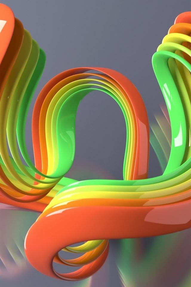 壁紙 カラフルな3次元曲線 19x10 Hd 無料のデスクトップの背景 画像