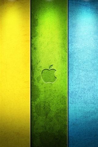 iPhone Papéis de Parede Colorido da Apple no centro das atenções