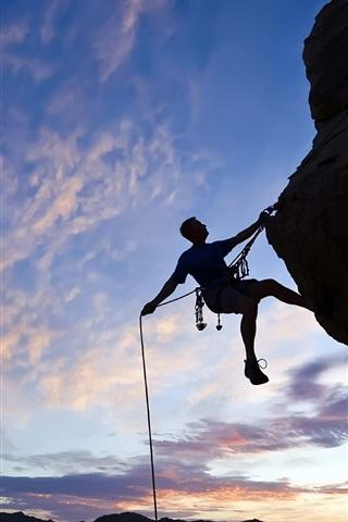 iPhone 배경 화면 절벽 등반에 도전하는 용기