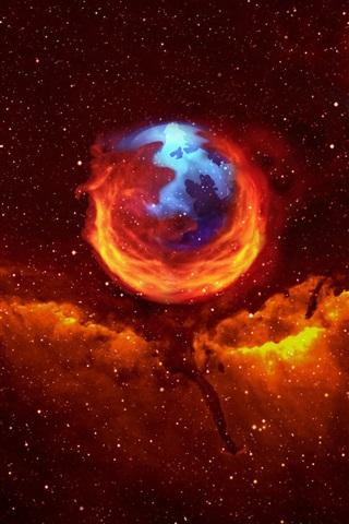 iPhone Papéis de Parede Firefox no espaço