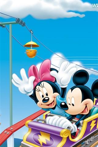 iPhone Wallpaper Happy Roller Coaster
