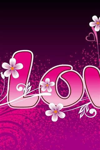 iPhone 배경 화면 사랑과 하트 모양의 주변의 꽃을 사랑
