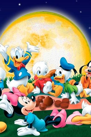 iPhone Wallpaper Mickey carnival night