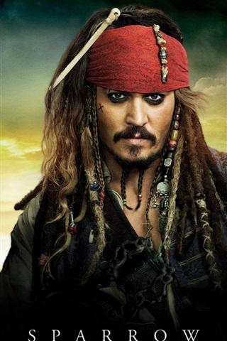 iPhone Hintergrundbilder Fluch der Karibik 4 Captain Jack Sparrow