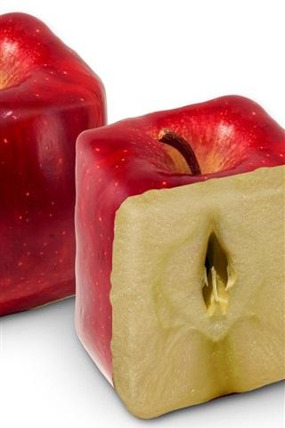 iPhone 배경 화면 직사각형 빨간 사과