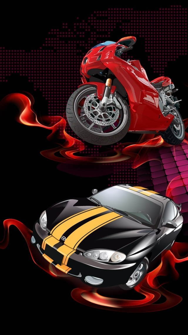 Wallpaper Red Fire Red Car 1920x1200 Hd Picture Image