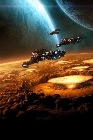 iPhone Papéis de Parede Espaço em StarCraft II