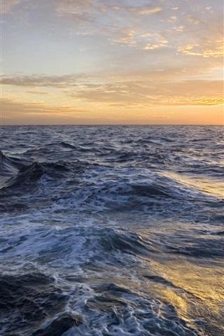 iPhone 배경 화면 바다의 석양