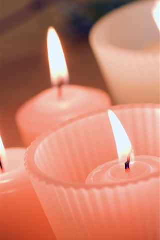 iPhone Wallpaper Warm candle light red