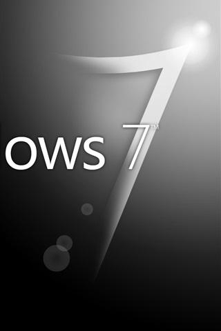 iPhone Papéis de Parede Windwos7 fundo preto