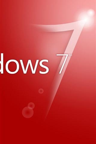 iPhone Papéis de Parede Windwos7 fundo vermelho