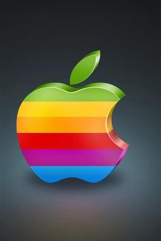 iPhone 배경 화면 3 차원 다채로운 애플