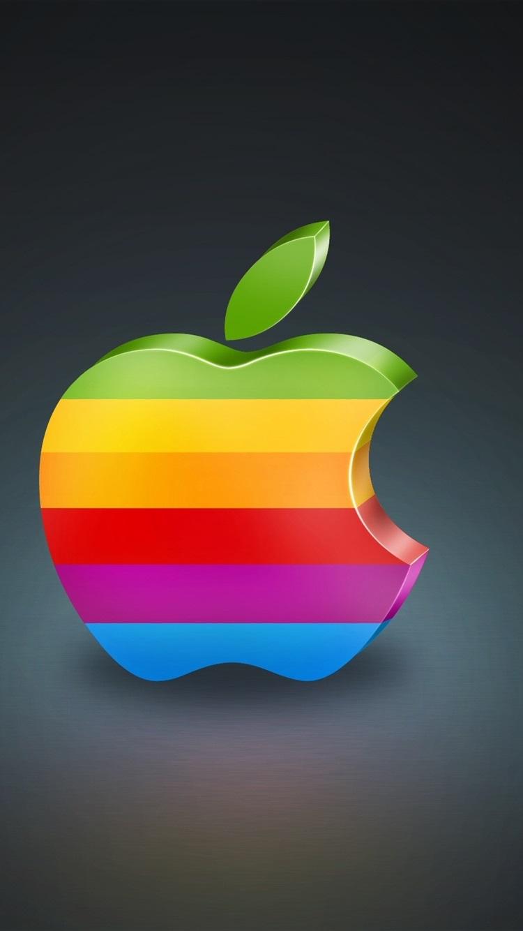 3dのカラフルなアップル 750x1334 Iphone 8 7 6 6s 壁紙 背景 画像