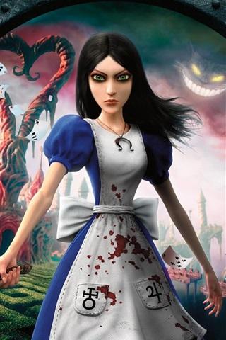 iPhone Wallpaper Alice: Madness Returns