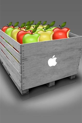 iPhone 배경 화면 사과 상자