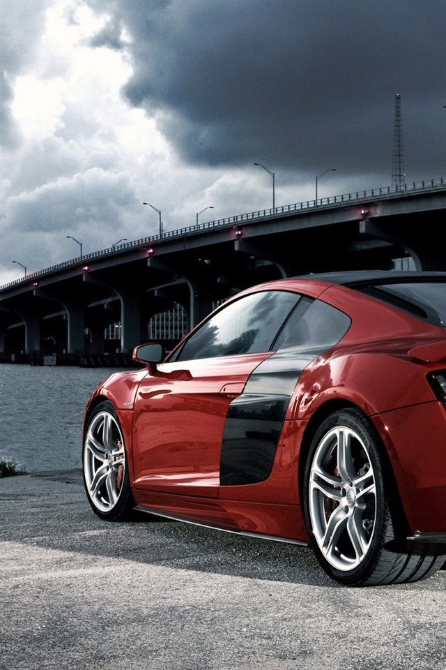 Audi R8 Red 640x1136 Iphone 5 5s 5c Se Wallpaper Background Picture Image