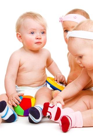 iPhone Papéis de Parede Bebês brincar com brinquedos