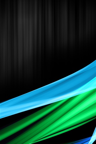 iPhone Wallpaper Blue green abstract curve