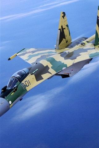 iPhone 배경 화면 위장의 전투기 비행