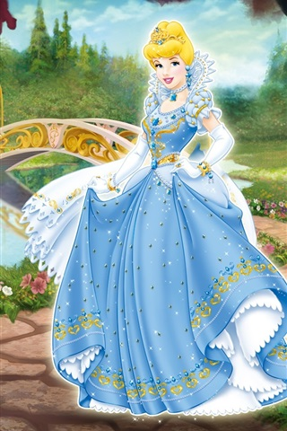 iPhone Wallpaper Cinderella in the garden