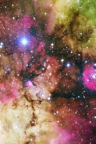 iPhone 배경 화면 다채로운 은하 허블