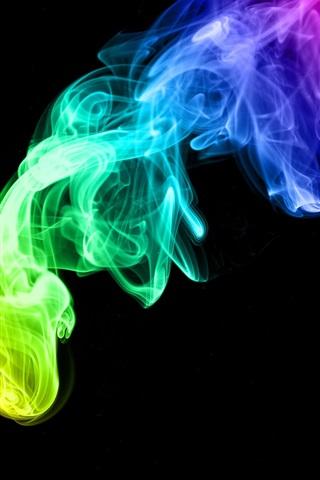 iPhone 배경 화면 다채로운 연기