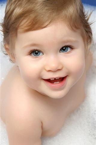 iPhone Papéis de Parede Cute bebê tomando banho