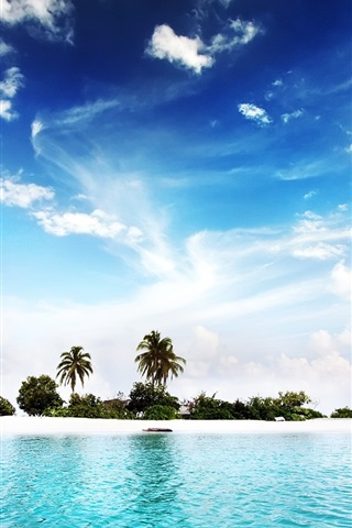 iPhone 배경 화면 Diggiri 섬