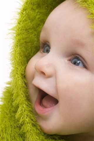 Green Scarf Cute Baby 750x1334 Iphone 8 7 6 6s Wallpaper Background Picture Image