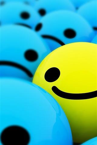 iPhone Papéis de Parede Feliz rostos sorridentes 3D
