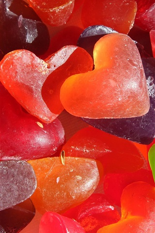 iPhone Wallpaper Homemade love heart-shaped soaps