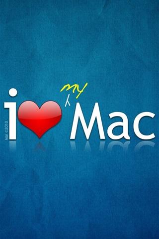 iPhone 배경 화면 내가 Mac을 사랑